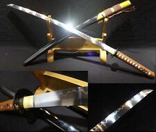 Handmade Japanese ninja sect templars sword burn blade knife turns the soil#1023
