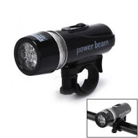 1pc 5 led power beam black front light head light torch lamp for bicycle bike_fw