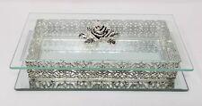Studio Silversmiths Bevelled Glass Silverplated Jewelry box