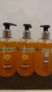 ABBOTT & BROOME Amber Sehr selten! 3 Flaschen Flüssigseife je 300ml. Siehe Foto