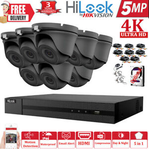 HIKVISION 5MP CCTV SYSTEM UHD 4K DVR 4CH 8CH OUTDOOR INDOOR DOME CAMERA KIT