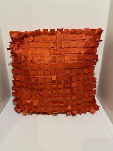 Debenhams 40cm x 40cm Orange Red 100% Polyester Cushions Home Decor Furnishing