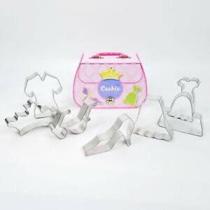 Williams Sonoma Cookie Cutters Tin Case Purse Dress Up Clothes Head To Toe 2005