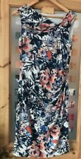 Ladies Spring Summer Ivory Casual Floral Dress From Kaliko Vgc