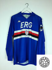 Retro SAMPDORIA 89/90 *PLAYER ISSUE* L/S Home Football Shirt (L) Soccer Jersey