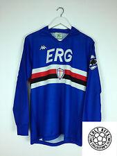 RETRO SAMPDORIA 89/90 * Player Issue * L / S Home Football Shirt (L) SOCCER JERSEY