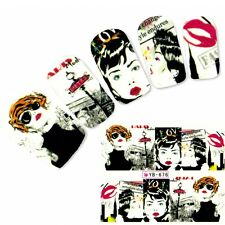 Tattoo Nail Art Aufkleber Model Manga Geisha Japan Anime Water Decall