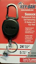 "2-Pack KEY-BAK Carabiner ""Sidekick"" ID Badge and Key Reel holder -Brand New"