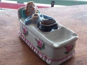 Vintage  ashtray  women risque art deco