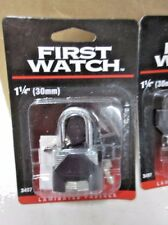 """First Watch Laminated Padlock with Key 1 1/4"""" #3407 - New & Free Shipping!"""