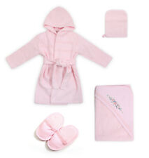 Bath set for children. 4 items in a gift box. 0-12 Months (pink or ivory)