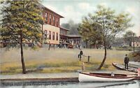 Akron Ohio c1910 Postcard Youngs Hotel at the Feeder