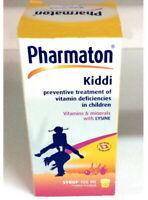 Pharmaton Kiddi Syrup 100 ml Multivitamin and Calcium Mineral and  Lysine Kids