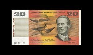Twenty Dollar Coombs/Randall R402 1967 Banknote (UNC)
