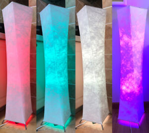 """52"""" RGB LED Soft Light Floor Lamp Remote Control Fabric Shade Dimmable Christmas"""