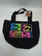 New Womens Billabong Black Colorful Beach Purse Book Tote Duffle Hand Bag $23