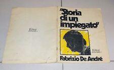 Spartiti FABRIZIO DE ANDRE' Storia di un impiegato Ed Associati 1979 Songbook