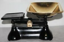 Vintage Cast Iron & Brass Kitchen Scales - FREE Postage [PL1211]