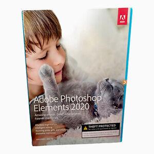 Adobe Photoshop Elements 2020 Windows PC Mac Disc DVD Version, NEW SEALED