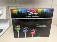 DISNEY Mickey Mouse Magic Holiday Christmas Pathway Markers NIB Display Lights