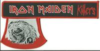 IRON MAIDEN killers - WOVEN AXE STRIP SHAPED SEW/IRON ON PATCH - RARE
