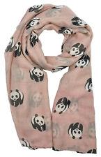 Womens Large Summer Panda Chiffon Oversized Long Wrap Thin Style Scarf Shawl UK Pink