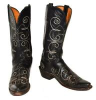 """""""The ORISONS"""" From LUCCHESE Black Calf Leather Western Cowgirl #N843054 Women 8B"""