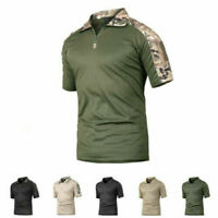Mens Military Shirts Tactical Combat T-Shirt Army Quick Dry Hiking Casual Shirt