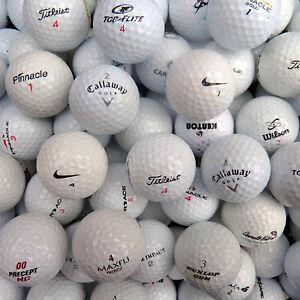 100 Markenmix Golfbälle in AAAA-AA + 50 Holztees Gratis