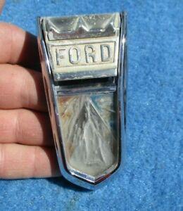 1962 Ford Falcon Front Trunk Lock Cover & Ornament Original FOMOCO