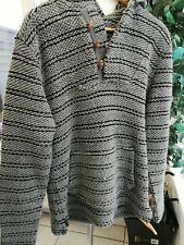 MENS WEIRD FISH MACARONI HOODED TOP JUMPER SIZE S POUCH POCKETS BOHO HIPPY SURF