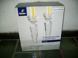 2 Tchibo TCM Kristall Kerzenständer Kerzenhalter Kerzenleuchter NEU OVP Set