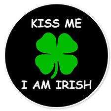 """Kiss Me I'm Irish car bumper sticker 4"""" x 4"""""""