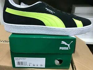 NIB Men's PUMA size 9.5 Suede Classic retro 2 sneakers black 371550-01