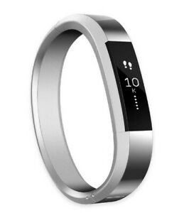 Silver Fitbit Alta HR Stainless Steel Metal Band Bracelet Watch NIB