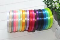 Satin Ribbon 6mm wide 1/4 inch basic solid packging assorted pure colours