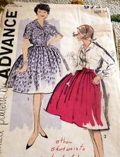 LOVELY VTG 1960s BLOUSE & SKIRT ADVANCE Sewing Pattern 14/34
