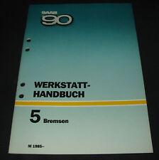 Werkstatthandbuch Saab 90 Bremsen Bremse Leitungen Verstärker Zylinder ab 1985!