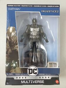 DC Multiverse Platinum Collection Batman Injustice 2 Figure w/Metal Pieces