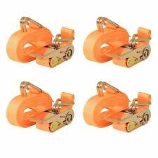 vidaXL 4x Spanband 0,4 Ton 6 m x 25 mm Oranje Sjorband Spangordel Bagagegordel