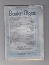 Readers Digest - December 1939  *VINTAGE *