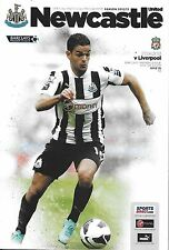 Football Programme>NEWCASTLE UNITED v LIVERPOOL Apr 2013