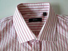 Hugo Boss Slim Fit Herren Hemd Langarm Weiß/Rosa Gestreift KW39