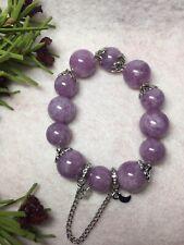 12-14mm: Dragon Eye Stone Bracelet with charms- Purple.