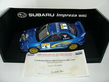 1/18 SUBARU IMPREZA WRC #5 1999 L.E 300 EXAMPLES SIGNED BY RICHARD BURNS AUTOART
