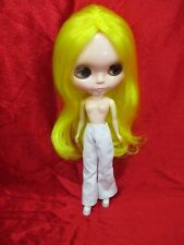 Handcrafted clothing pants trousers for Blythe Basaak doll # white