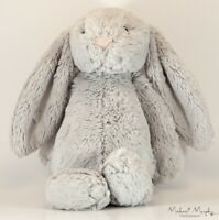 Jellycat London Bashful Bunny Rabbit Gray Floppy Ears Stuffed Animal Plush