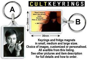Bill Hicks keyring / fridge magnet - It's just a ride
