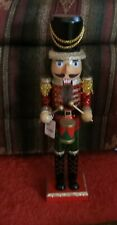 Pier 1 Imports Christmas Glitzy Red, Gold, Green Sequins Drummer Nutcracker