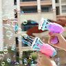 Plastic Electric Bubble Machine Fan Gun Shooter Blower Maker Kids Fun Toy Gift